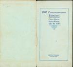Program for the 1908 Commencement Exercises in Seneca, Kansas