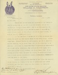 Letter from William H. Thompson to Mr. W. Knaus by William H. Thompson