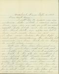 Letter from Estelle Dietterich to her aunt, Mary Winn by Estelle Dietterich