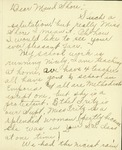 Letter from Helen Cook to Maud Shore