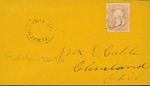 Envelope addressed to Mr. E. Cable