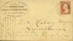 Envelope addressed to E. S. Halsey Esq by P. L. Hudgens & Son