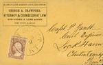 Envelope addressed to J. Furbish Esq.