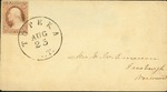Envelope with an address to Doctor Elijah Baldwin