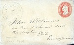 Envelope addressed to Miss Sarah L. Park