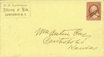 Envelope addressed to Mr. Austin [illegible] of Centropolis, Kansas - Front of envelope