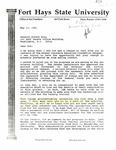 Tomanek Hall: Letter, to Senator Bob Dole, from President Edward Hammond, May 13, 1991
