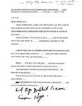 Tomanek Hall: Script, used by Bob Lowen at groundbreaking ceremonies, May 7, 1993