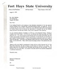 Tomanek Hall: Letters, to various dignitaries, from President Edward Hammond, August 3, 1995