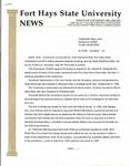 Tomanek Hall: Press release, from the Office of University Relations, August 10, 1995 by FHSU Office of University Relations