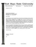 Tomanek Hall: Letter, to Senator Nancy Kassebaum, from President Edward Hammond, February 14, 1995