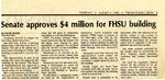 Tomanek Hall: Newspaper, Senate approves $4 million for FHSU building