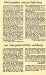 Tomanek Hall: Newspaper, two editorials about the new physical sciences building by Edward Hammond and Bob Dole