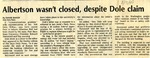 Tomanek Hall: Newspaper, Albertson wasn't closed, despite Dole claim