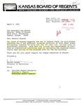 Tomanek Hall: Letter, to Gus Bogina, from Warren Corman, April 1, 1991