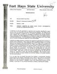 Tomanek Hall: Memorandum, to Senator Gerald Karr, from President Edward Hammond, October 2, 1992