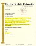 Tomanek Hall: Letter, to President Edward Hammond, from Ron Pflughoft, January 8, 1993