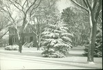 Picken Hall in the snow