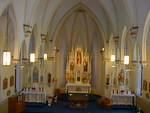 Sanctuary of the St. Catherine Catholic Church by Patty Nicholas