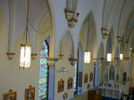 Upper part of nave in the St. Catherine Catholic Church by Patty Nicholas