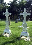 Iron crosses in the St. Catharina Cemetery by Mitch Weber