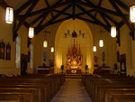 Nave and sanctuary of the St. Francis Catholic Church by Patty Nicholas