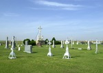 Iron crosses in the St. Francis of Assisi Cemetery by Mitch Weber