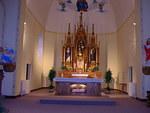 Sanctuary of the St. Francis Catholic Church by Patty Nicholas