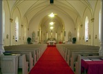 Nave and sanctuary of the St. Anthony Catholic Church by Mitch Weber