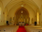 Nave and sanctuary of the St. Anthony Catholic Church by Patty Nicholas