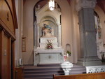 Altar from the first St. Fidelis Catholic Church building by Patty Nicholas