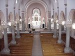 Nave and sanctuary of the Basilica of St. Fidelis by Patty Nicholas