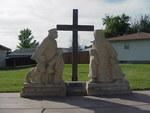 Volga German Immigrants Statue by Patty Nicholas