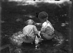 Babies in Bird Bath by Lyman Dwight Wooster